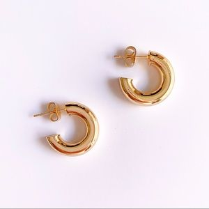 Jewelry - 18K Gold Plated Thick Mini Hoops Earrings